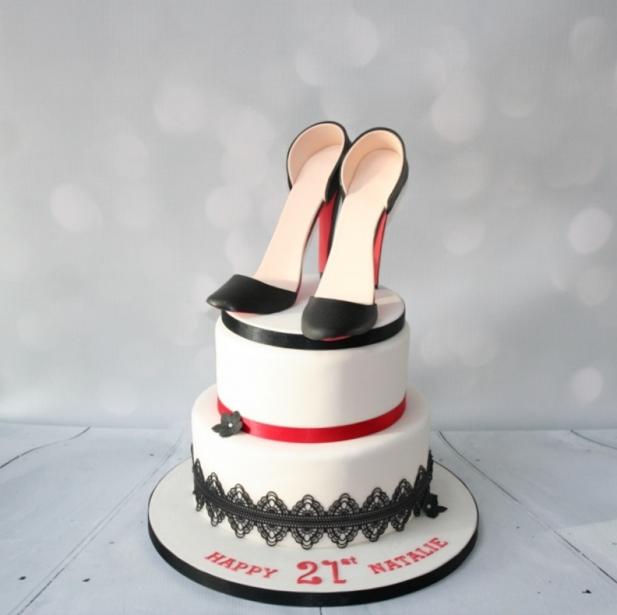 6 Photos of Shoe Tier Cakes