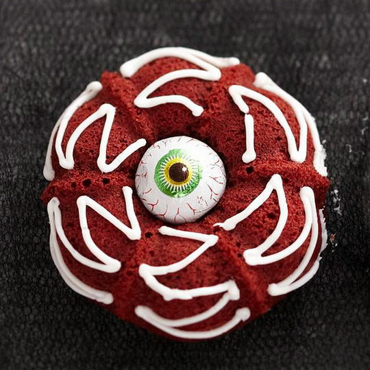 Red Velvet Halloween Cupcakes Eyeballs