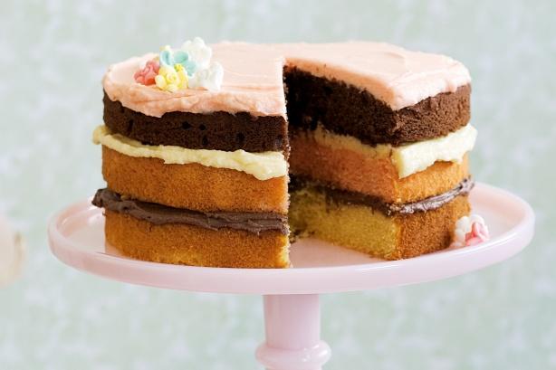 Ribbon Cake Recipe