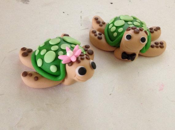 Sea Turtle Fondant Cake Topper