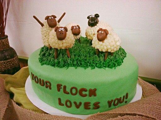 Sheep Cake Pastor Appreciation