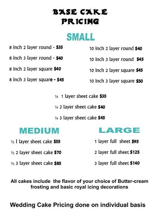 Sheet Cake Price