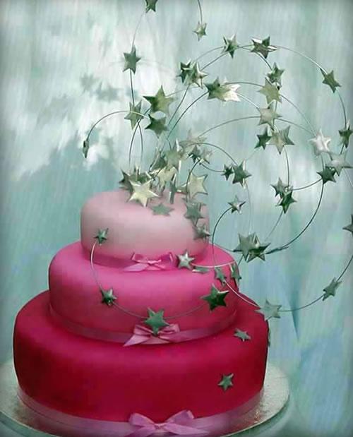 Shooting Star Wedding Cake