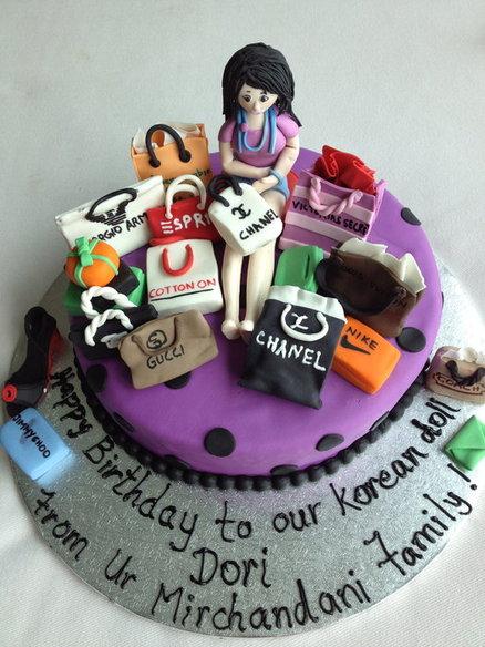 Shopping Theme Birthday Cake