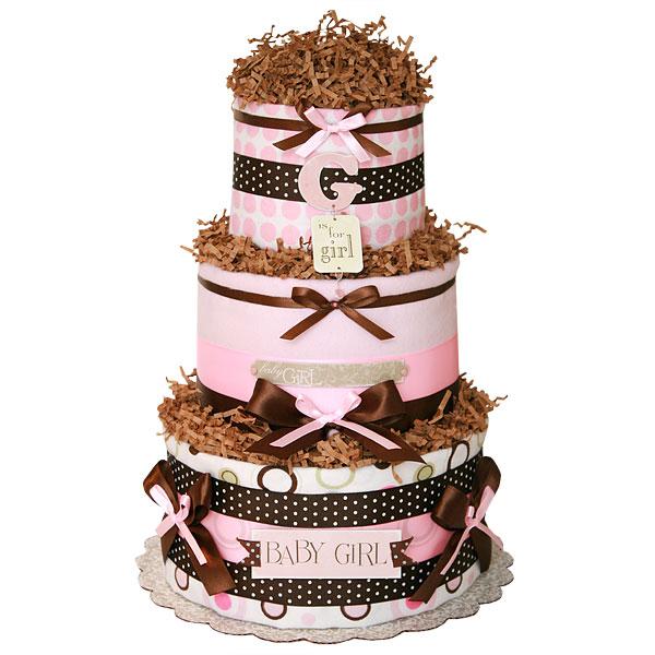 Simple Girl Diaper Cake