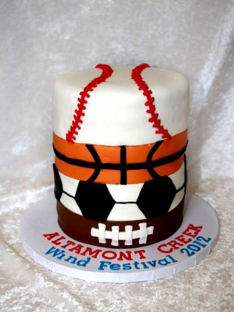 Sports-Themed Birthday Cake