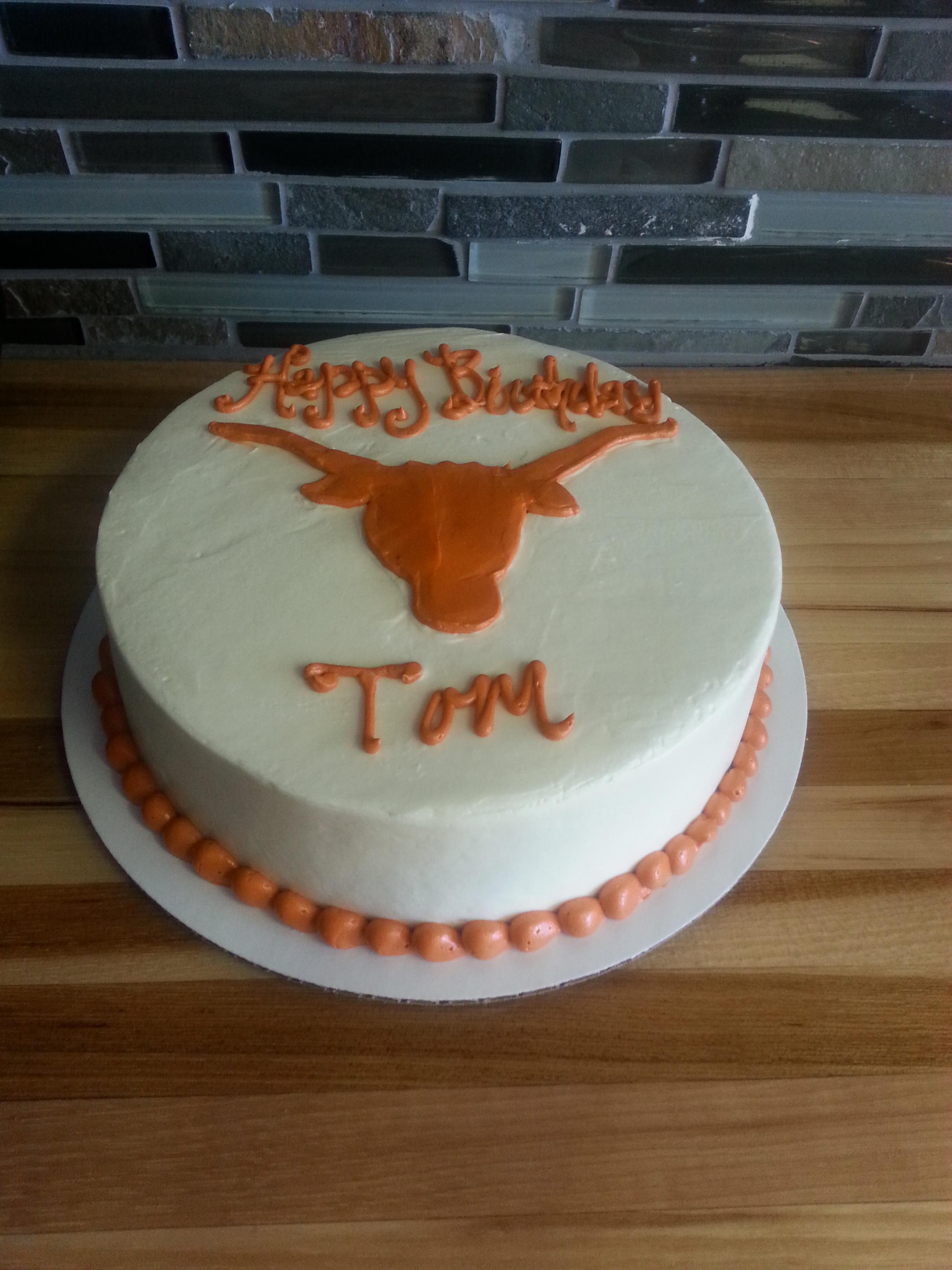 Texas Longhorn Birthday Cake