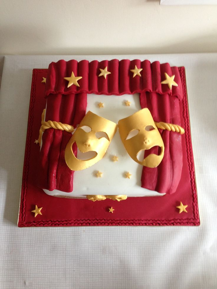 Theatre Comedy Tragedy Mask Cake