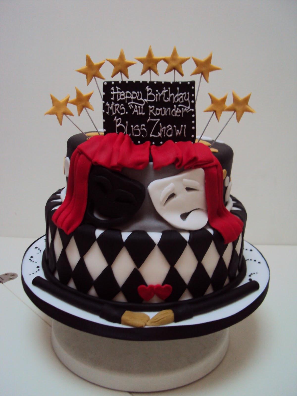Theatre Themed Birthday Cake