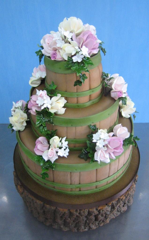 Wedding Barrel Cake