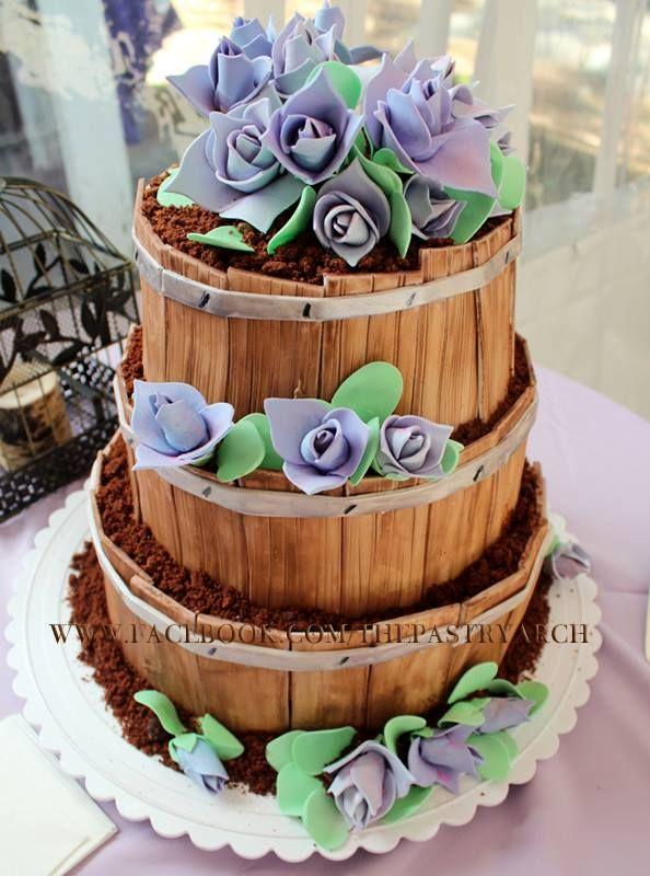 Whiskey Barrel Wedding Cake