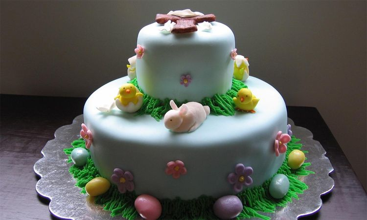 2-Tier Easter Cake