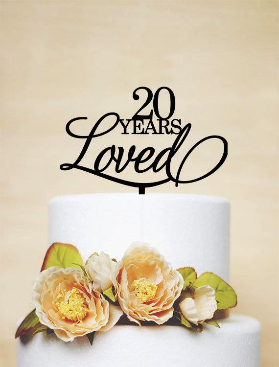 20 Year Anniversary Cake Topper