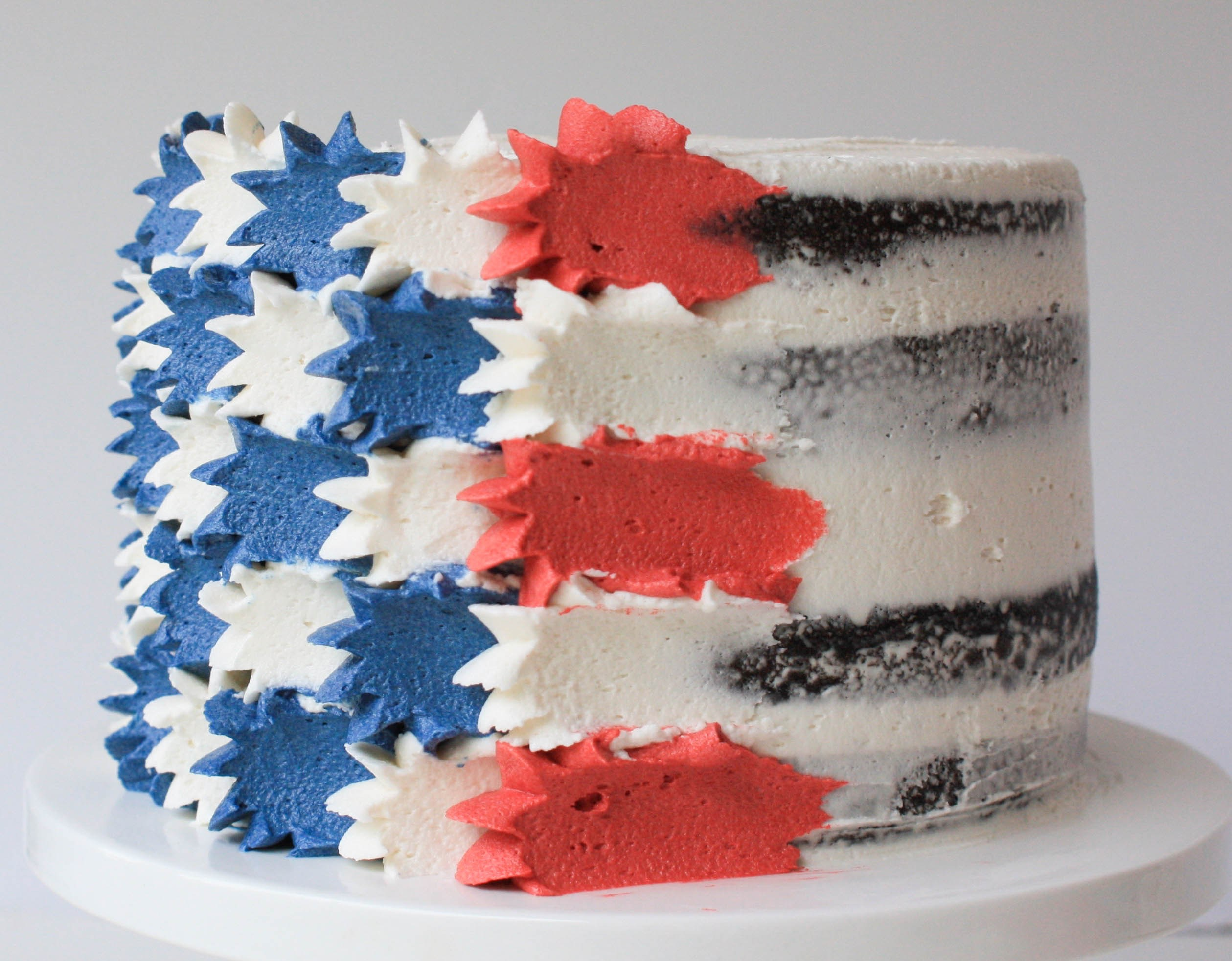 4th of July Stars and Stripes Cake