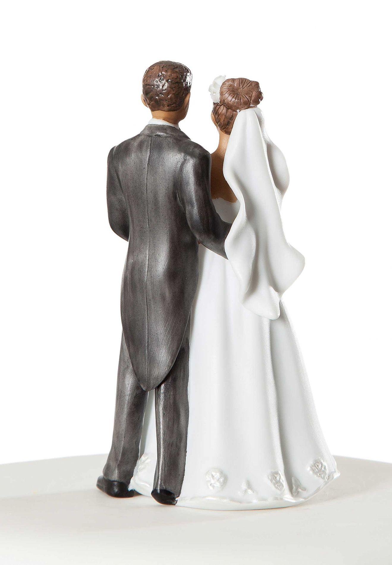 African American Elegant Wedding Cake Topper