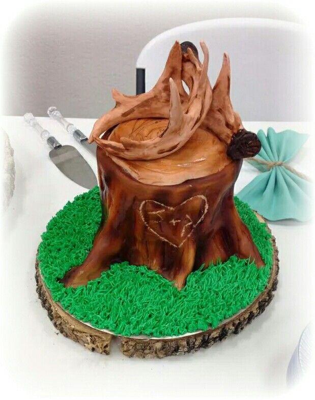 Antler Grooms Cake