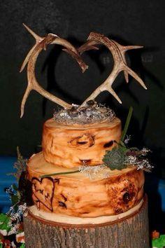 Antler Wedding Cake