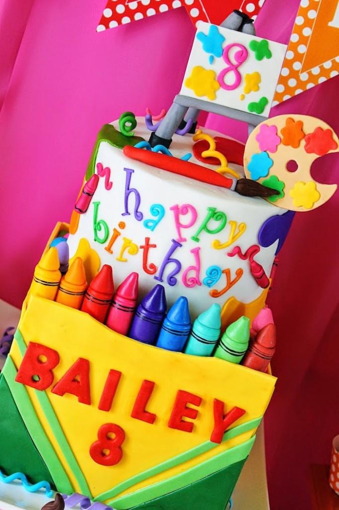 Art Themed Birthday Party Cake