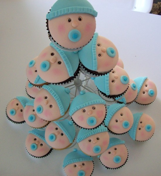 10 Photos of Baby Shower Boy Cupcakes Cake