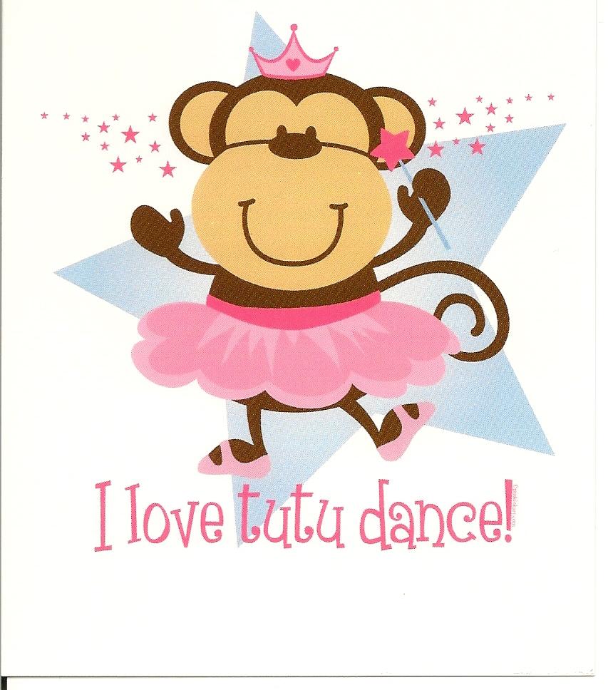 Ballerina Monkey Cake Topper
