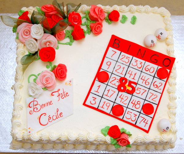Bingo Card Birthday Cake
