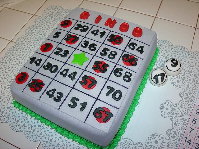 Bingo Card Cake