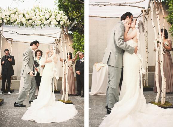 Birch Chuppah Wedding