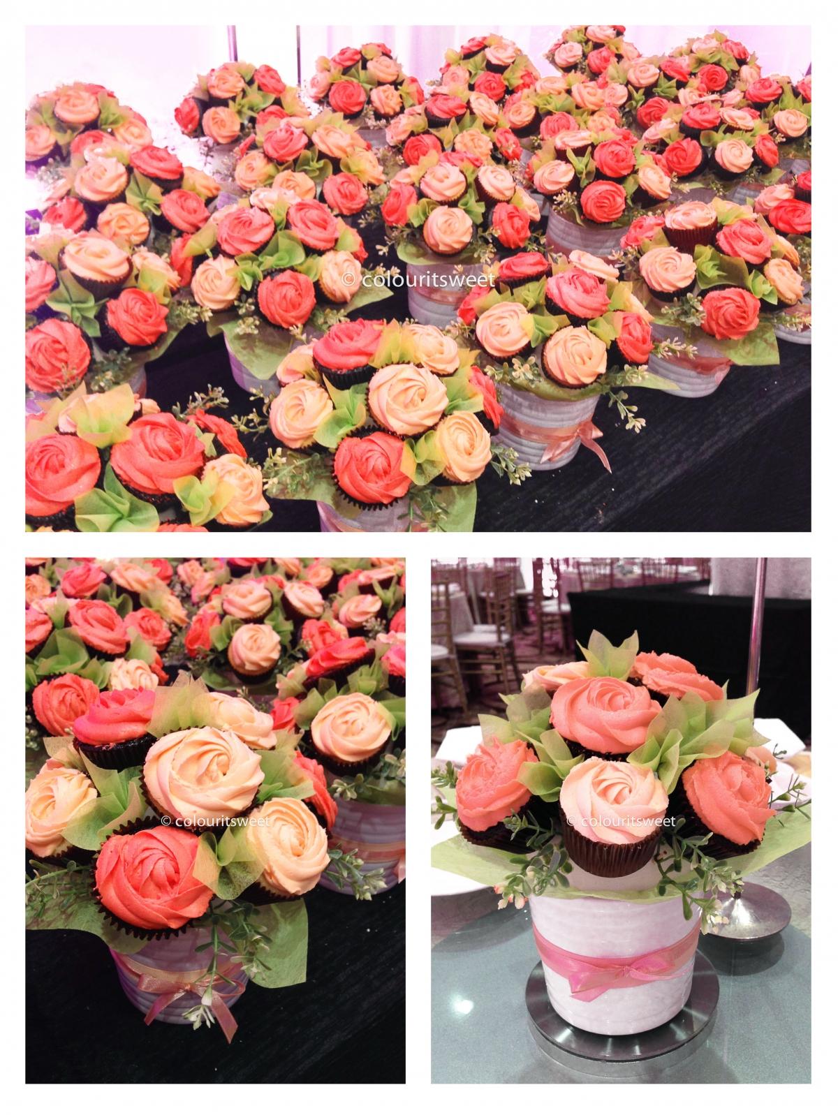 Birthday Cupcake Flower Arrangement