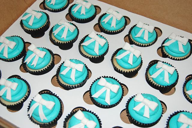 Blue Bridal Shower Cakes and Cupcakes
