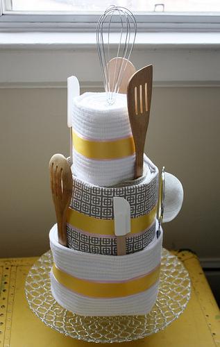 Bridal Shower Kitchen Towel Cake