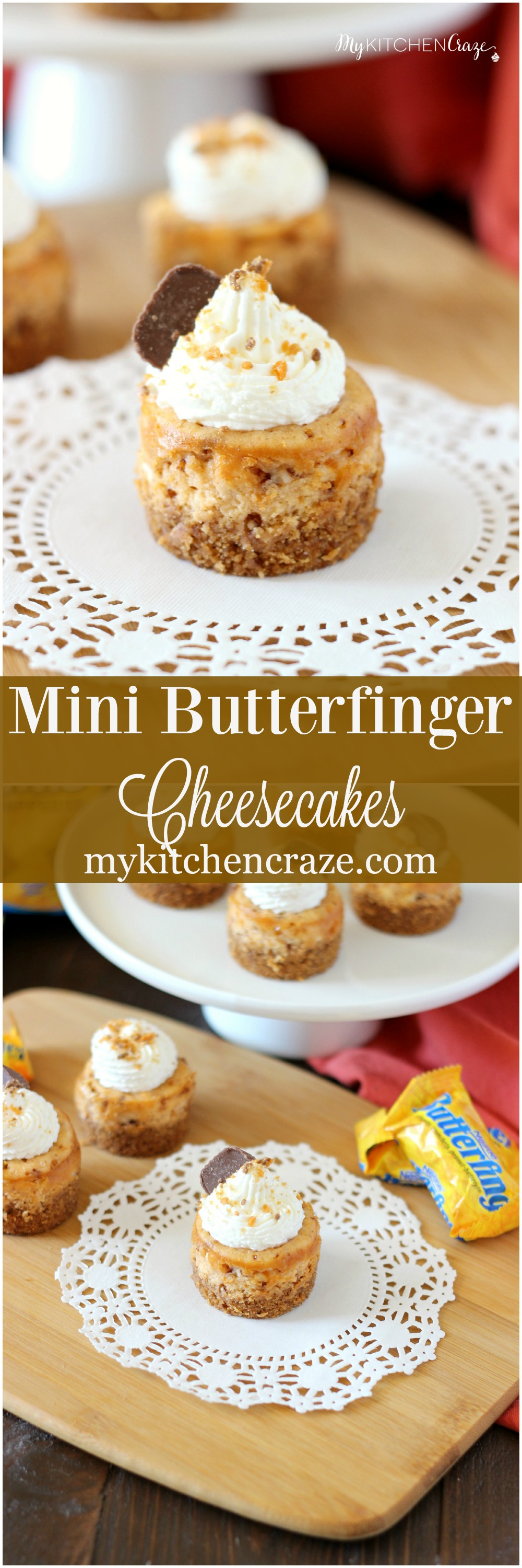 Butterfinger Mini Cheesecakes Recipe