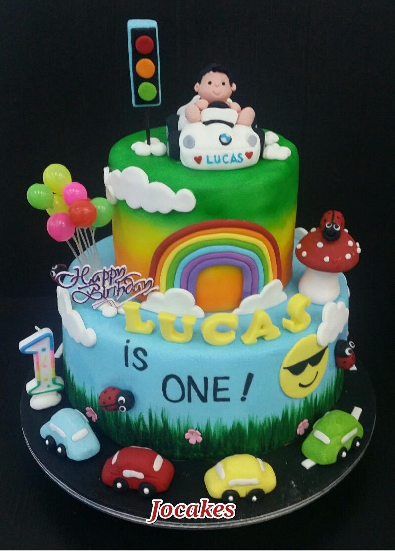 Car for 1 Year Old Boy Birthday Cake