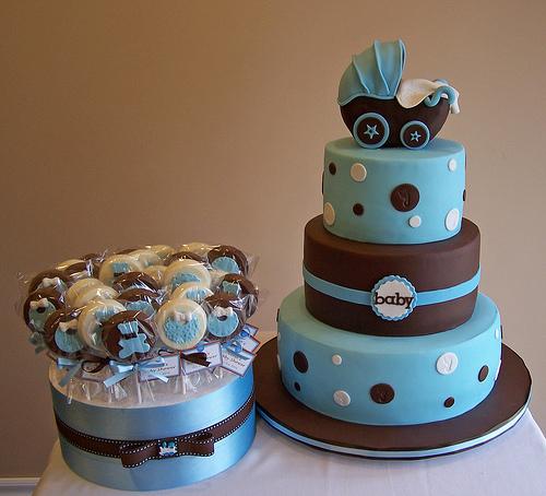 Chocolate Baby Shower Cake