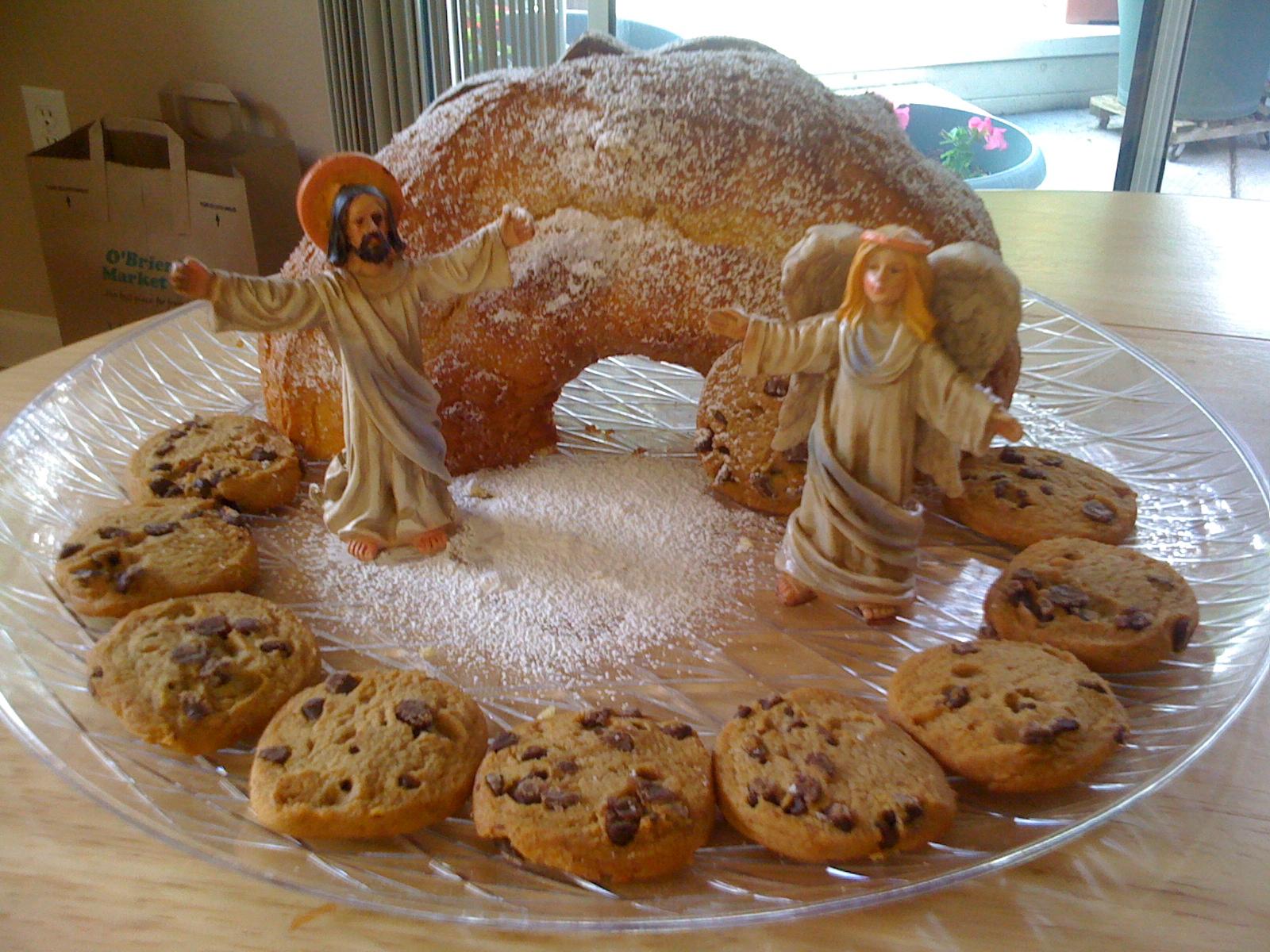 Christ Risen Empty Tomb Cake Easter