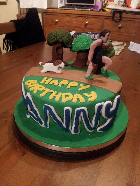 Cross Country Running Cake