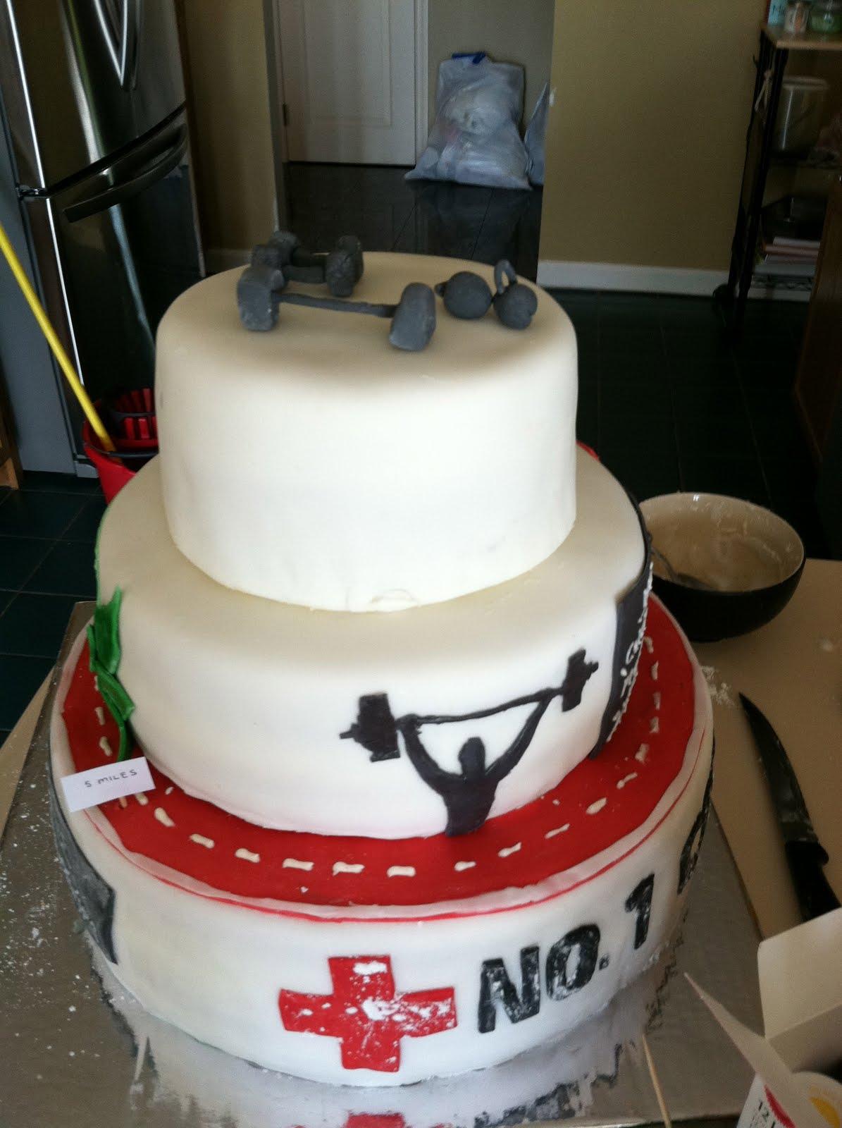 CrossFit Birthday Cake