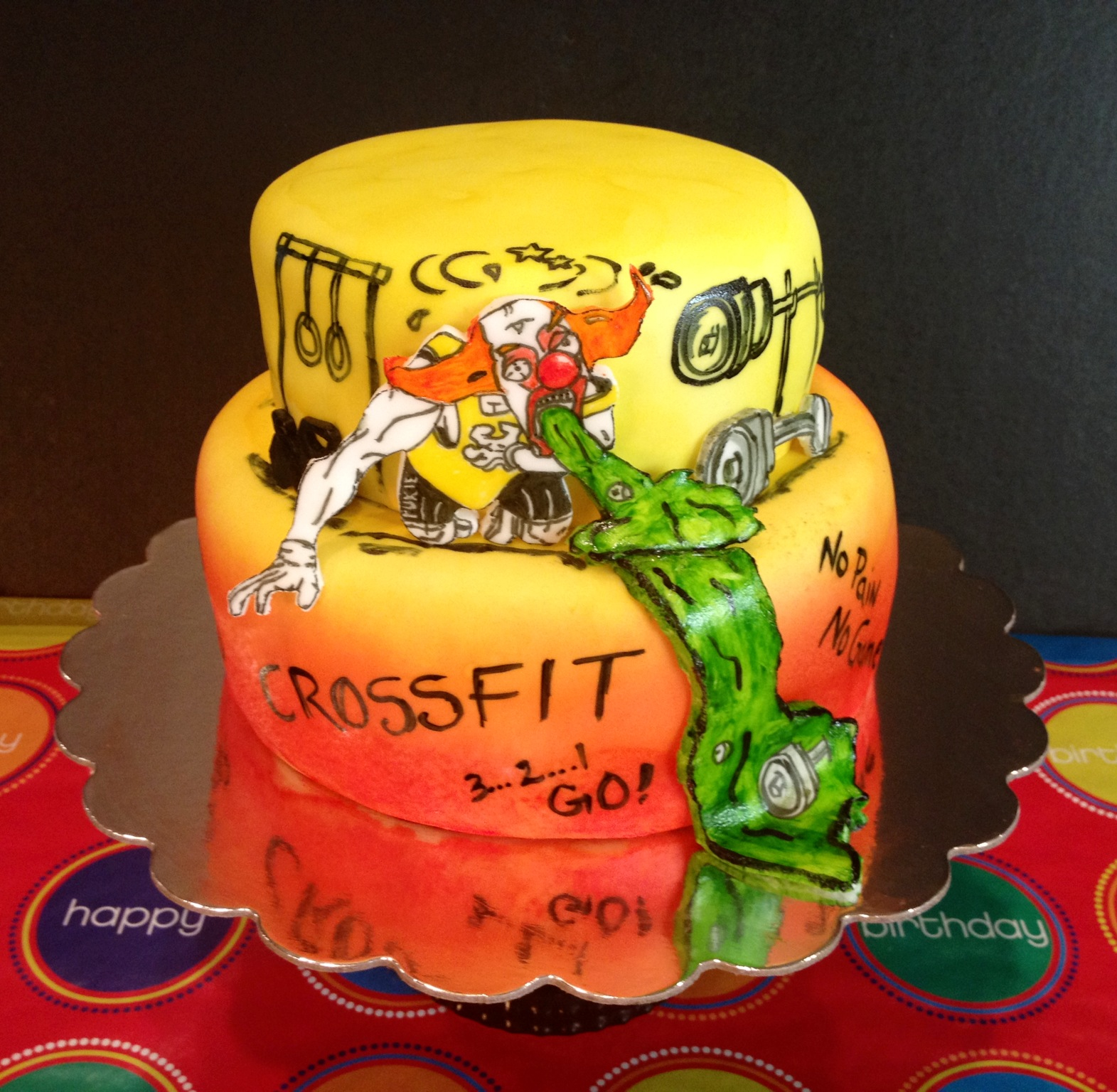 CrossFit Themed Birthday Cake