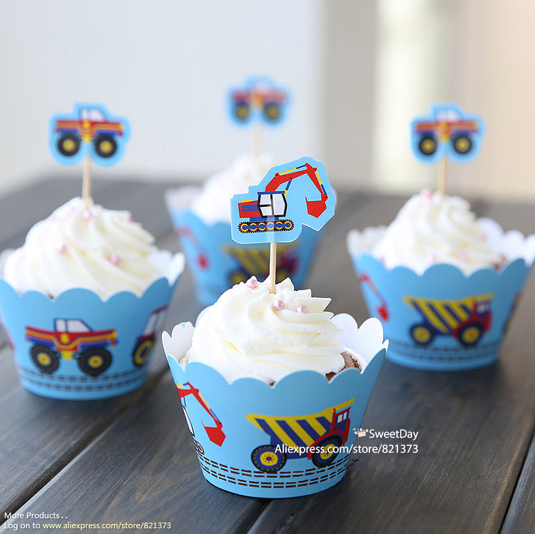 Cupcakes for Boys Birthday Party
