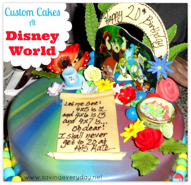 Custom Cakes at Disney World