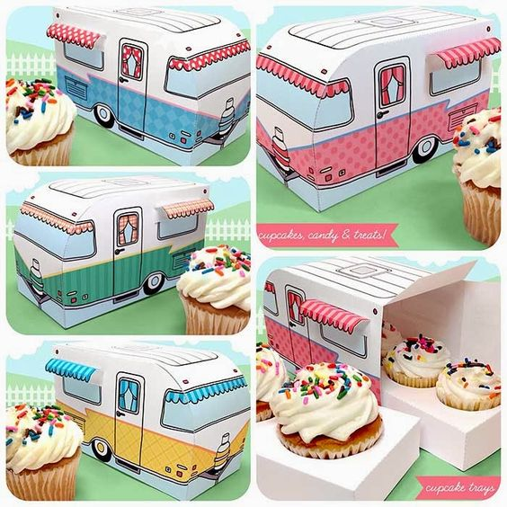 Cute Cupcake Printable Boxes
