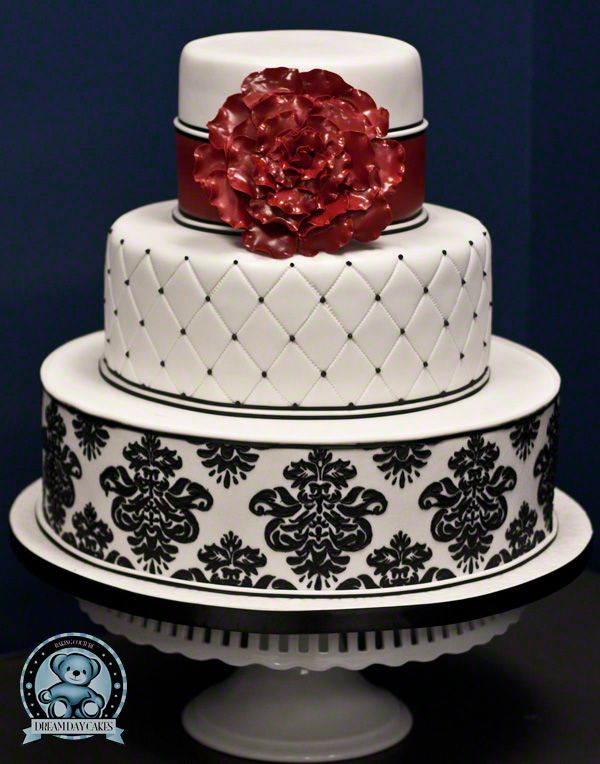 9 Photos of Damask Design Birthday Cakes