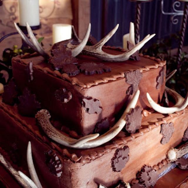 Deer Antler Wedding Cake