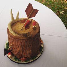 Deer Hunting Themed Grooms Cake