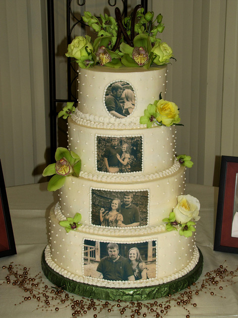 Edible Flowers Wedding Cake