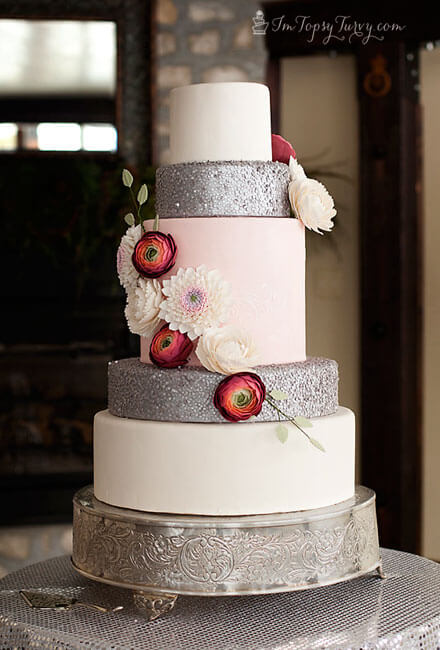 Edible Wedding Cake Sequins