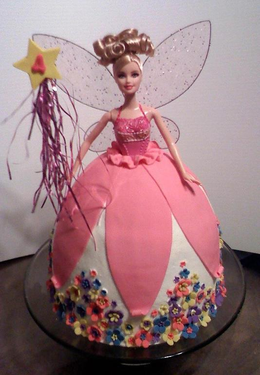 Fairy Barbie Doll Cake