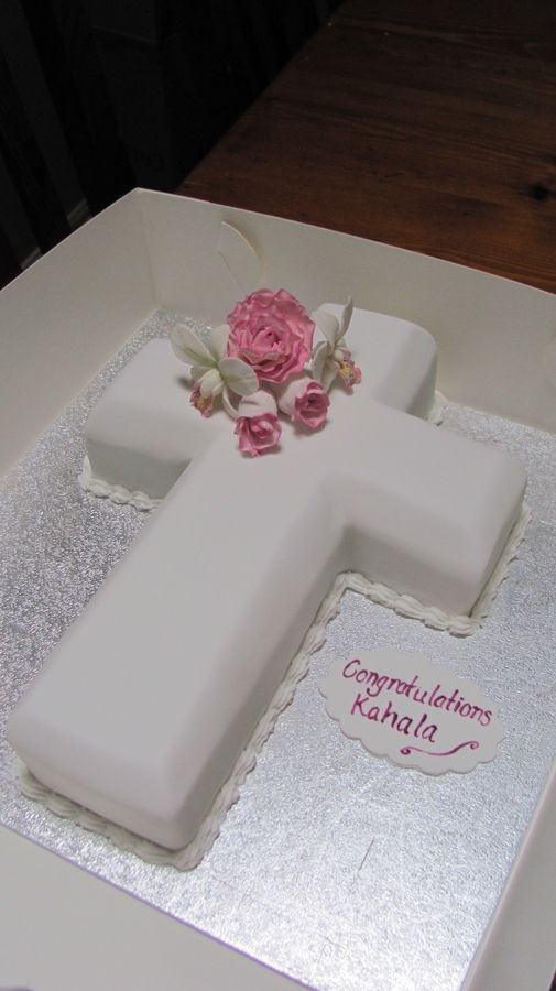 First Communion Cross Cake