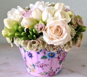 Fresh Flower Arrangement Cupcake