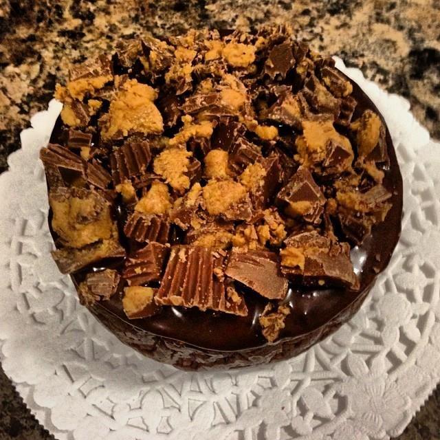 Ganache with Milk Dark Chocolate Mini Cheesecakes
