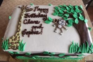 Giraffe and Monkey Wedding Cake